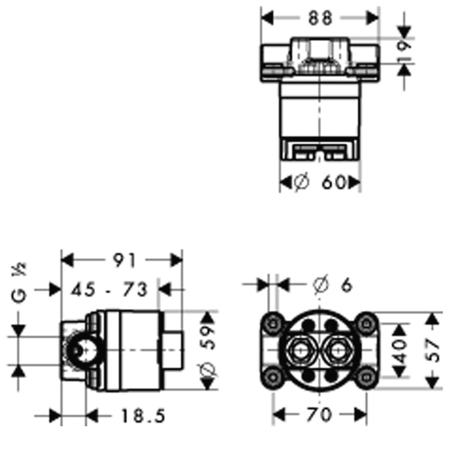 10902180 AXOR Starck Basic set