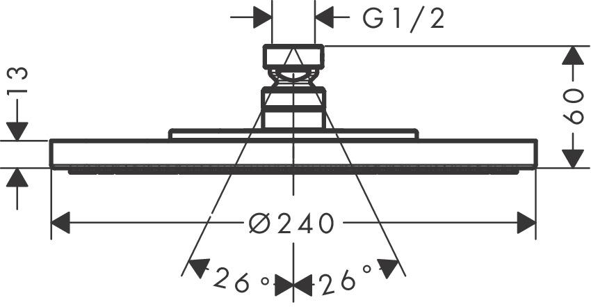 28494000 AXOR Starck AXOR Starck 240 1jet plate overhead shower