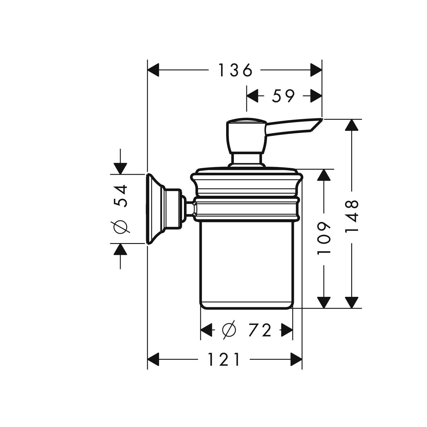 42019000 AXOR Montreux Soap dispenser