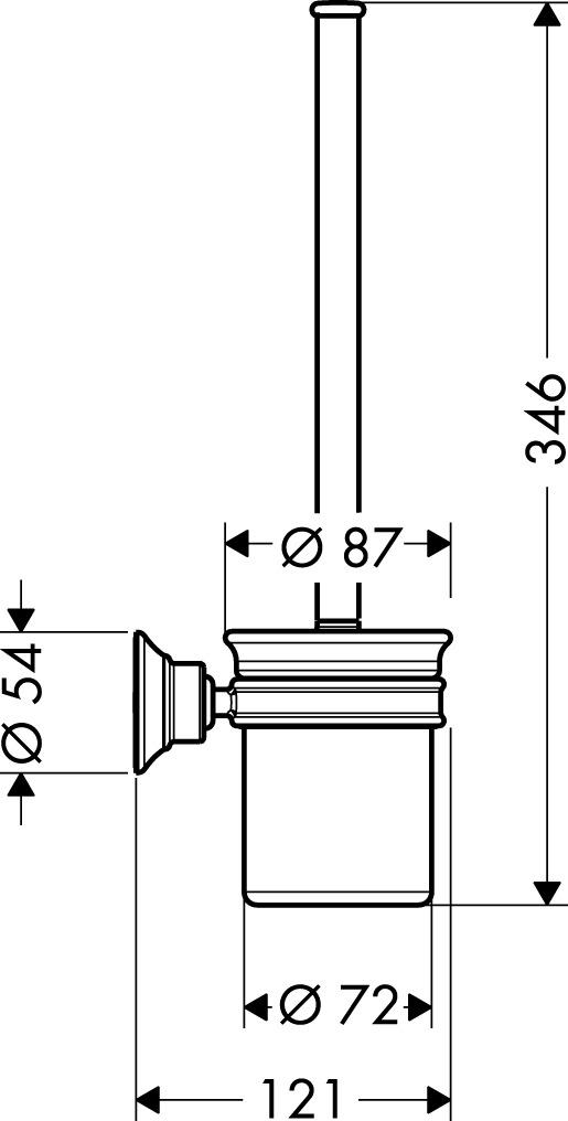 42035000 AXOR Montreux Toilet brush holder