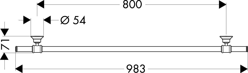 42080000 AXOR Montreux Towel holder 800 mm