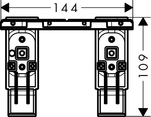 42870000 AXOR Universal Accessories Adapter set