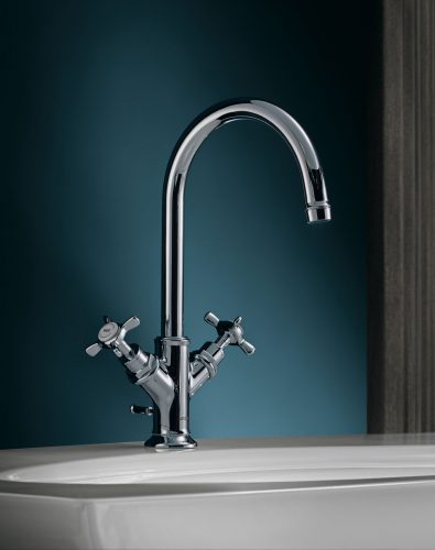 Bathwaters 16502000 AXOR Montreux 2 handle basin mixer 210 with pop up waste