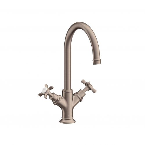 Bathwaters 16502820 AXOR Montreux 2 handle basin mixer 210 with pop up waste