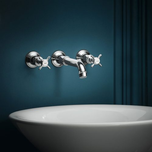 Bathwaters 16532000 AXOR Montreux 3 hole basin mixer without pop up waste