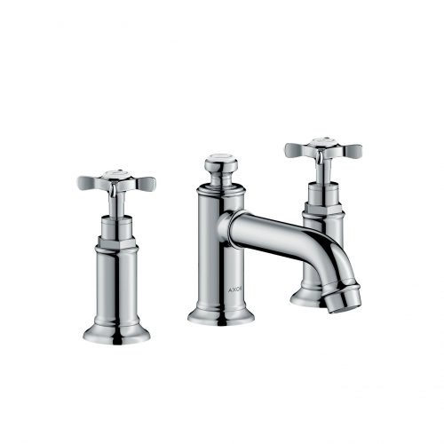 Bathwaters 16536000 AXOR Montreux 3 hole basin mixer 30 with pop up waste and cross handles