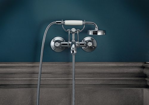 Bathwaters 16540000 AXOR Montreux 2 handle manual bath and shower mixer for exposed installation