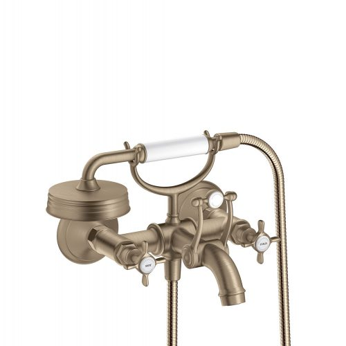 Bathwaters 16540820 AXOR Montreux 2 handle manual bath and shower mixer for exposed installation