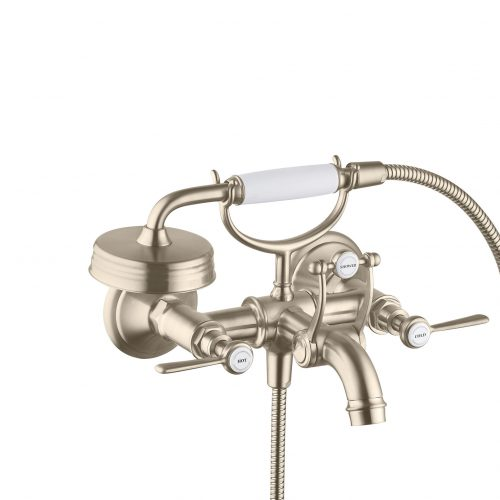 Bathwaters 16551820 AXOR Montreux 2 handle manual bath and shower mixer with lever handles for exposed installation