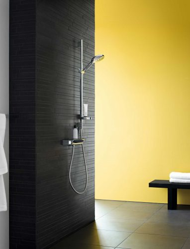 Bathwaters 27803400 hansgrohe Raindance Select S Shower set 150 3jet with shower rail 90 cm and soap dish