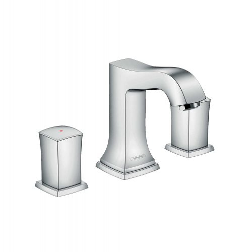 Bathwaters 31304000 hansgrohe Metropol Classic 3 hole basin mixer 110 with zero handles and pop up waste