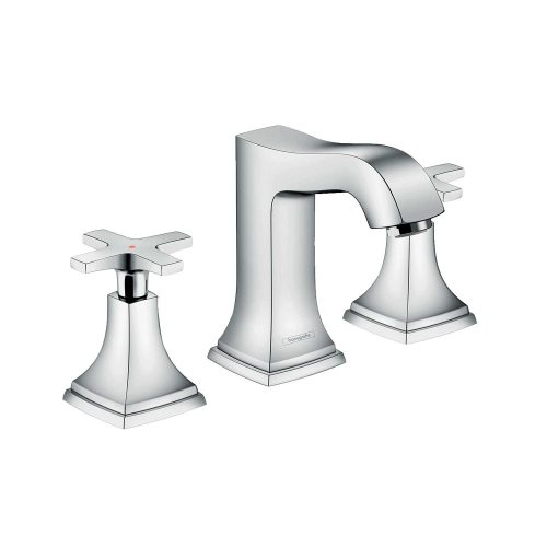 Bathwaters 31306000 hansgrohe Metropol Classic 3 hole basin mixer 110 with cross handles and pop up waste