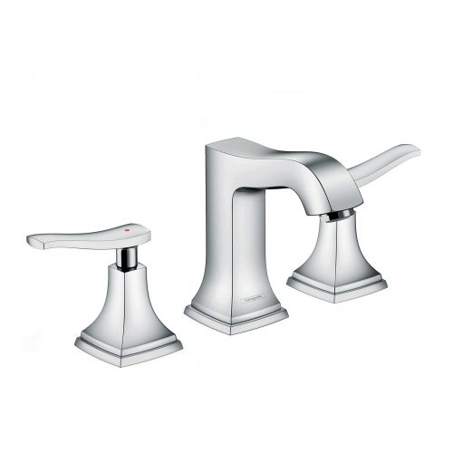 Bathwaters 31330000 hansgrohe Metropol Classic 3 hole basin mixer 110 with lever handle and pop up waste