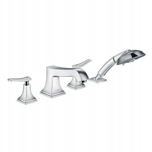 Bathwaters 31441000 hansgrohe Metropol Classic 4 hole rim mounted bath mixer with lever handle