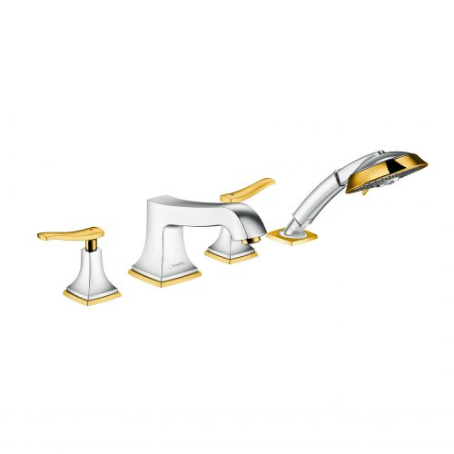 Bathwaters 31441090 hansgrohe Metropol Classic 4 hole rim mounted bath mixer with lever handle