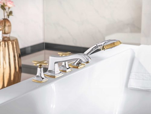 Bathwaters 31449000 hansgrohe Metropol Classic 4 hole rim mounted bath mixer with cross handles 02