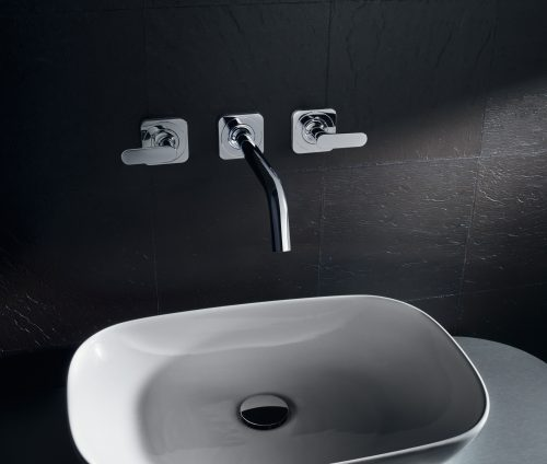 Bathwaters 34315000 AXOR Citterio M 3 hole basin mixer with escutcheons and 226 mm spout, wall mounted