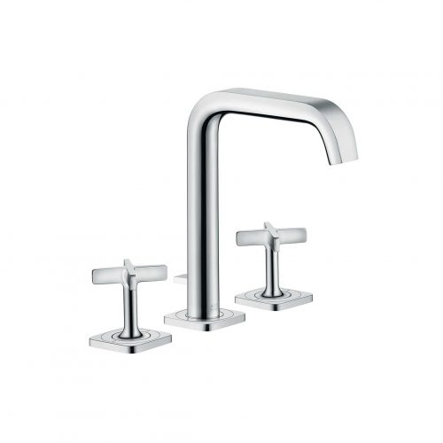Bathwaters 36108000 AXOR Citterio E 3 hole basin mixer with 170 pop up waste and escutcheons