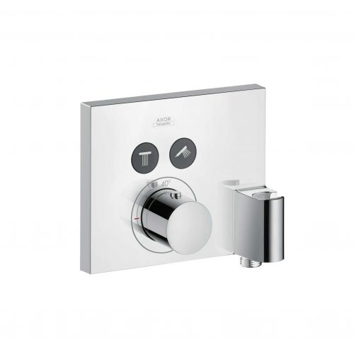 Bathwaters 36712000 AXOR ShowerSelect AXOR ShowerSelect Square thermostatic mixer for concealed installation for 2 outlets with FixFit and porter unit