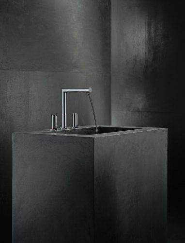 Bathwaters 45133000 AXOR Uno 3 hole basin mixer 200 zero handle with pop up waste