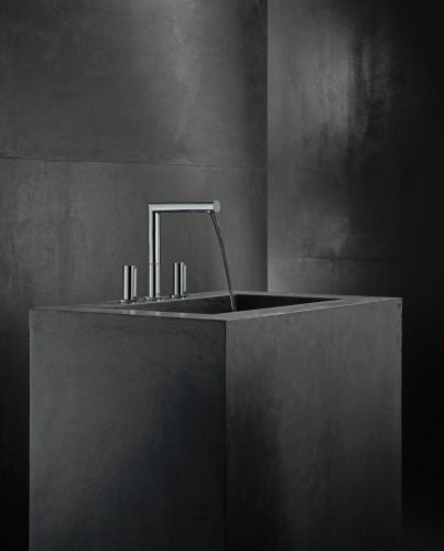 Bathwaters 45133930 AXOR Uno 3 hole basin mixer 200 zero handle with pop up waste