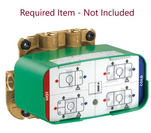 Bathwaters 45710180 AXOR One Basic set for thermostatic module for concealed installation   required