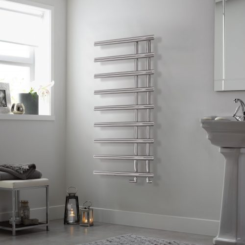 Bathwaters EsherChrome Towel Rail 1245×500