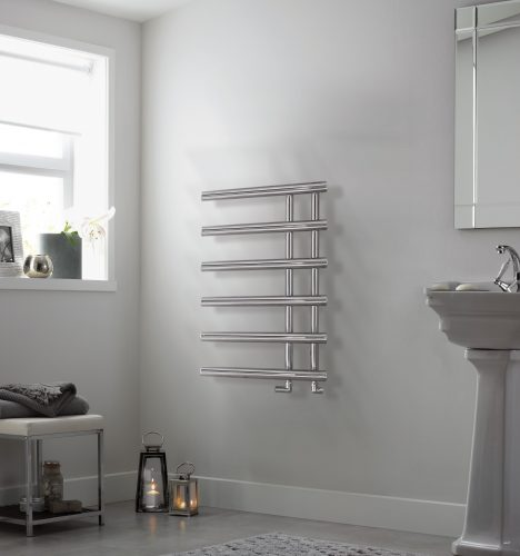 Bathwaters EsherChrome Towel Rail 795×500