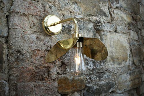 Bathwaters Mullan Lighting MLBWL012POLBRS 1
