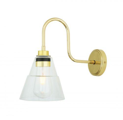 Bathwaters Mullan Lighting MLBWL057POLBRS 2