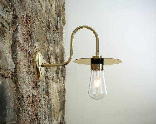 Bathwaters Mullan Lighting MLBWL063POLBRS 1
