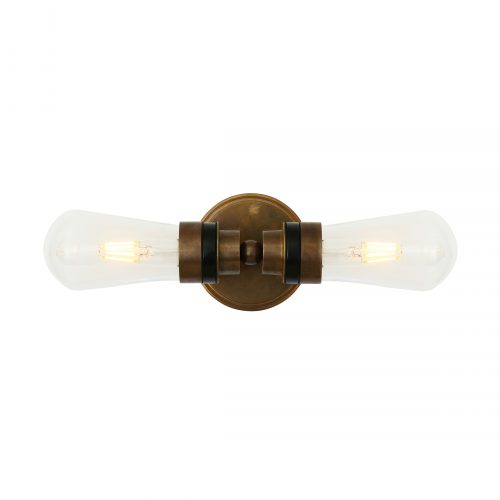 Bathwaters Mullan Lighting MLBWL103ANTBRS 3
