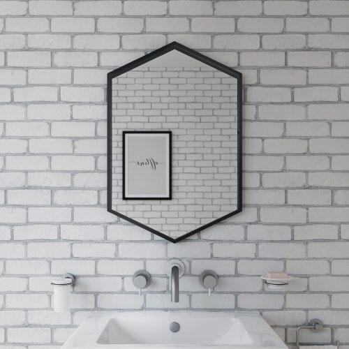 docklands hexagonal 50x75cm black