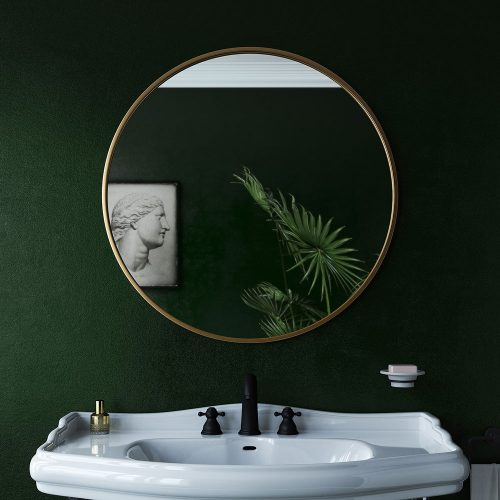 docklands round 80cm brushed brass