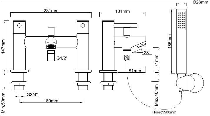 FL.332CD 2 tech drawing