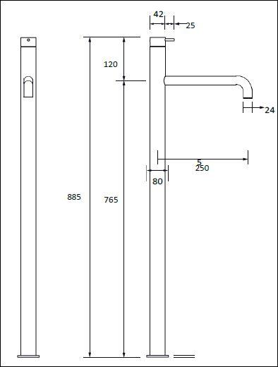 FL.341CF H tech drawing