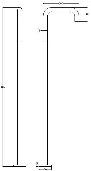 FL.351CF H tech drawing