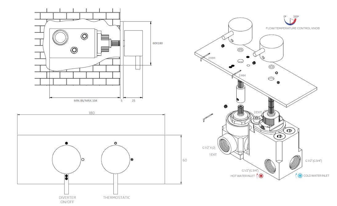 FL.522CR 2D tech drawing