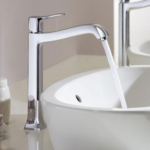 hansgrohe metris classic single lever basin mixer 250 for washbowls with pop up waste