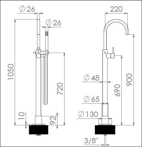 MM.341CF 2 tech drawing