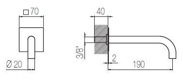 ST.151CW 190 tech drawing