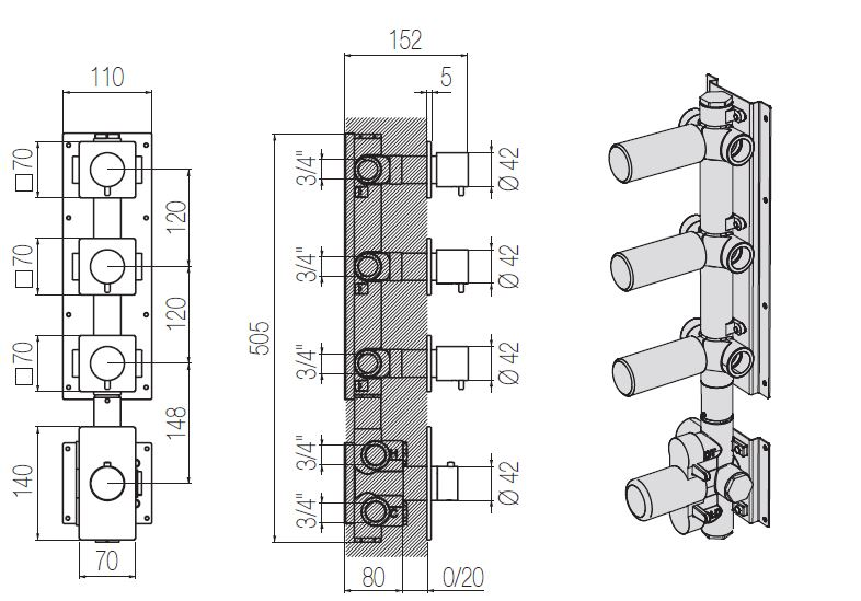 ST.544CR 3 tech drawing