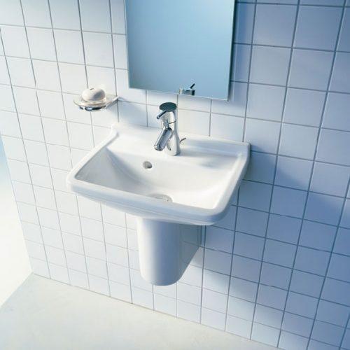 starck 3 Semi pedestal and basin