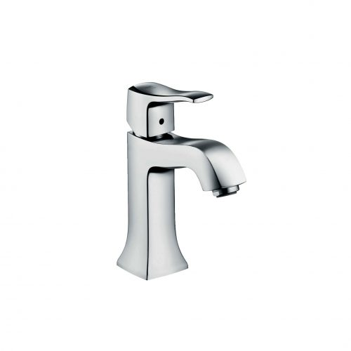 West One Bathrooms 31075000 hansgrohe metris classic single lever basin mixer 100 with pop up waste 02