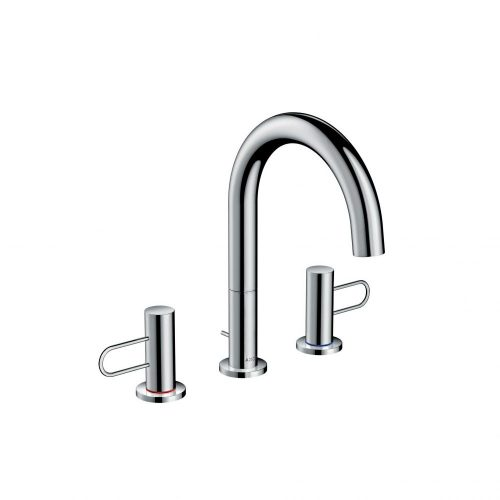west one bathrooms  38054000 axor uno 3 hole basin mixer 200 loop handle with pop up waste 1000×1000