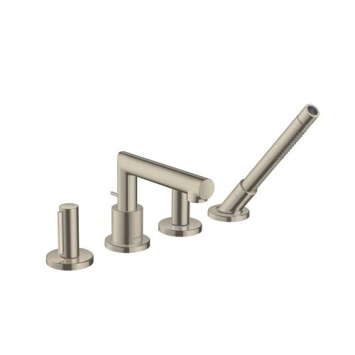 west one bathrooms  45444820 axor uno 4 hole rim mounted bath mixer zero handle 1000×1000