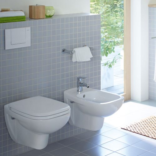 West One Bathrooms Duravit D Code Rimless Wall Hung Toilet, Pan Only
