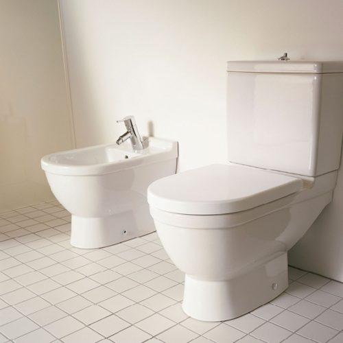 West One Bathrooms Duravit Starck 3 Bidet, Floor Standing, Back To Wall