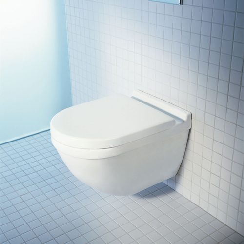 West One Bathrooms Duravit Starck 3 Rimless Wall Hung Toilet, 360 X 540mm, Pan Only