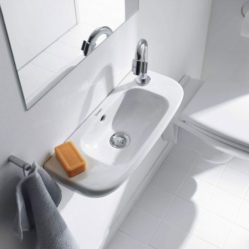 West One Bathrooms Online Duravit D Code Handrinse Basin with Overflow 500x220mm